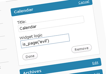 wordpress widget logic